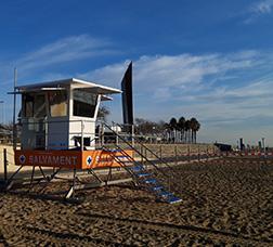 Punt de vigilància a la platja
