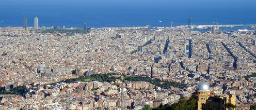 Vista panorámica de Barcelona