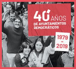 Cartel 40 años de ayuntamientos democráticos