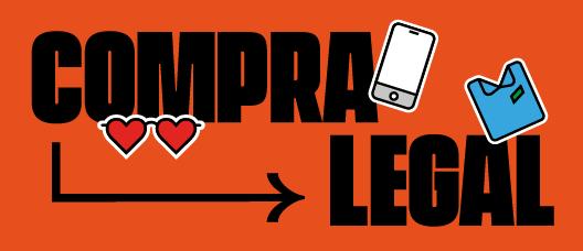 Cartel de campaña con el texto: Compra legal