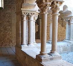 Detail of the cloister of the Sant Pau del Camp Benedictine monastery
