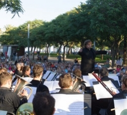 Classical-music concert in a park