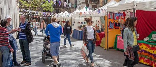 Street market ambience