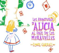 Portada dibuixada per un nen d'Alícia al país de les meravelles de Lewis Carroll