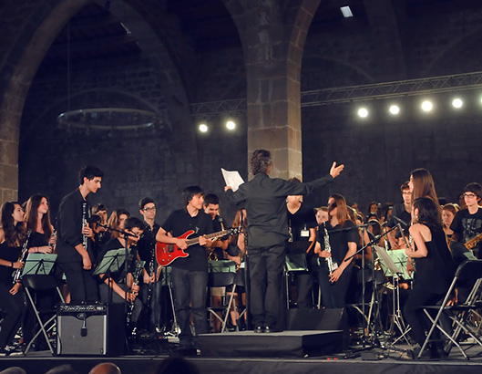 Musical performance by an orchestra