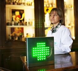 Pharmacist inside an establishment