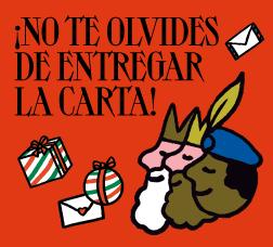 Cartel de campaña con el texto: ¡No te olvides de entregar la carta!