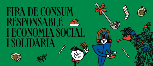 Cartell de campanya amb el text: Fira de Consum Responsable i Economia Social i Solidària