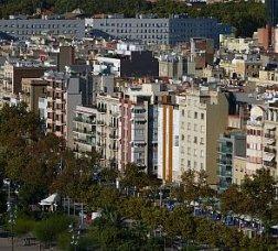 Panoramic view of the Barceloneta neighborhood