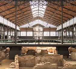 Fotografia de les restes arqueològiques d'El Born Centre de Cultura i Memòria