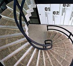 Escales a l'interior del nou equipament del Canòdrom