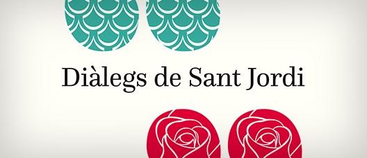 Cartel de campaña Diálogos literarios de Sant Jordi