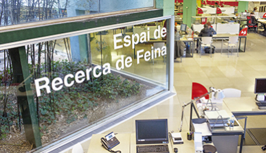 Overview of the jobseekers' area at Barcelona Activa