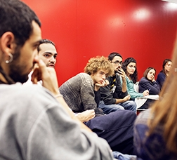 Young people in a meeting