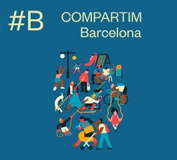 Cartell de campanya: Compartim Barcelona