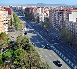 View of the Meridiana avenue