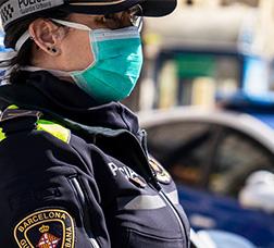 The City Police guarding Barcelona