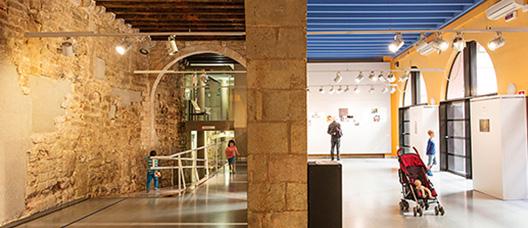 Interior de una sala de exposiciones