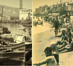 Old photos of La Barceloneta's beach