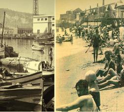 Antigues imatges de la platja de la Barceloneta