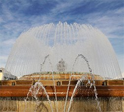 cartoon water fountain