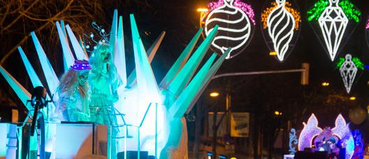 Cabalgata de Reyes en el distrito de Horta-Guinardó