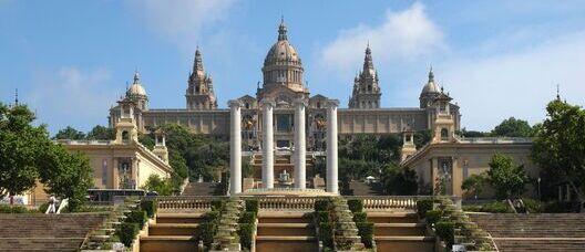 Vista de la façana principal del Museu Nacional d'Art de Catalunya