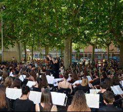 Concert de música clàssica en un parc