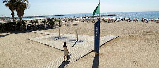 Vista de la platja de la Nova Mar Bella