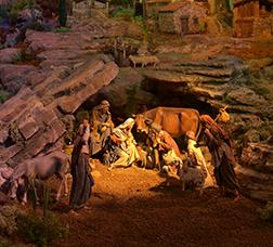Classic nativity scene at the Museu Marès