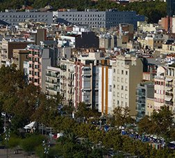 Panoramic view of the Barceloneta neighbourhood