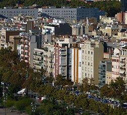 Vista panoràmica del barri de la Barceloneta