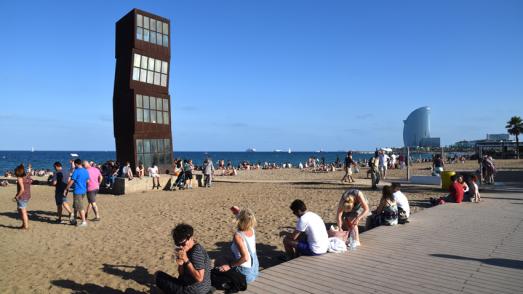 """Estel ferit"" a la platja de Sant Miquel"