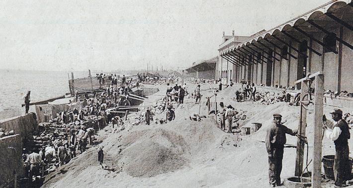 Historic beaches of Barcelona