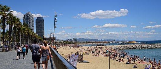 Vista de la platja de la Barceloneta