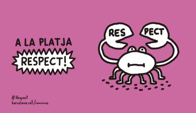 Cartell: A la platja, RESPECT!