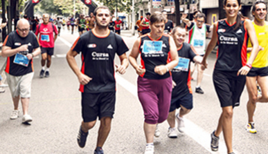 People with disabilities participating in one of the city's popular races
