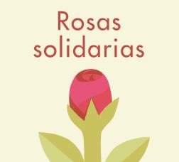 Cartel de la campaña de Sant Jordi con una ilustración y el texto Rosas solidarias