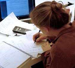 Picture of a girl studying