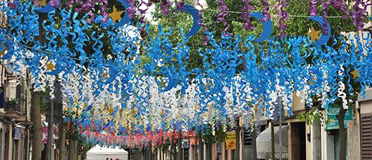 Detall de la decoració d'una festa major