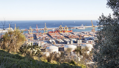 Good loading and unloading port at the Zona Franca