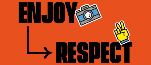 Banner with the text: Enjoy - Respect