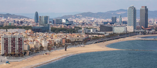 Vistas del litoral barcelonés